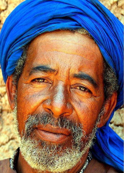 Berber Man Greeting Card featuring the photograph Portrait Of A Berber Man by Ralph A Ledergerber-Photography