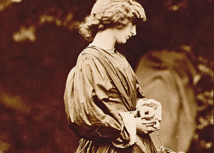 Photo Greeting Card featuring the photograph Portrait Of Jane Morris by John Parsons