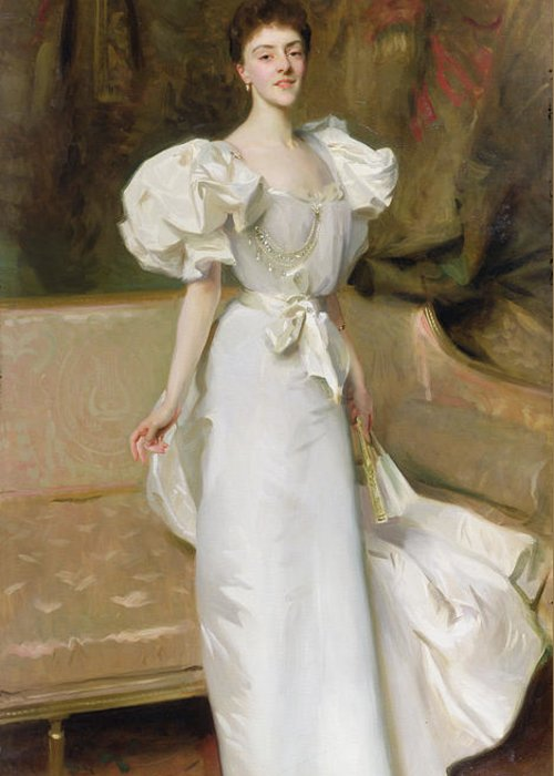 Sofa Greeting Card featuring the painting Portrait Of The Countess Of Clary Aldringen by John Singer Sargent