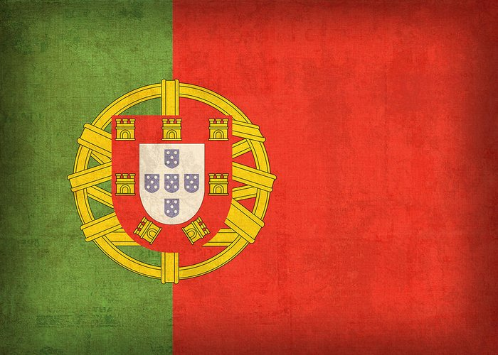 Portugal Flag Vintage Distressed Finish Lisbon Portuguese Europe Nation Country Greeting Card featuring the mixed media Portugal Flag Vintage Distressed Finish by Design Turnpike