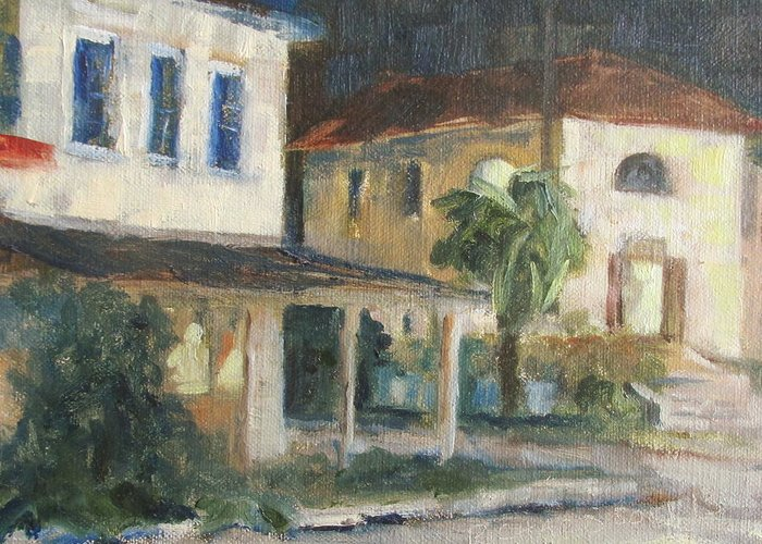Apalachicola Greeting Card featuring the painting Post Office Apalachicola by Susan Richardson