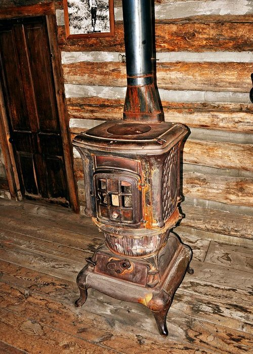 Rustic Greeting Card featuring the photograph Potbelly Stove by Marty Koch