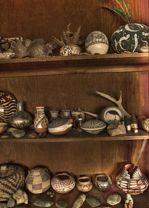 Pots And Things Greeting Card featuring the photograph Pots And Things by William Fields