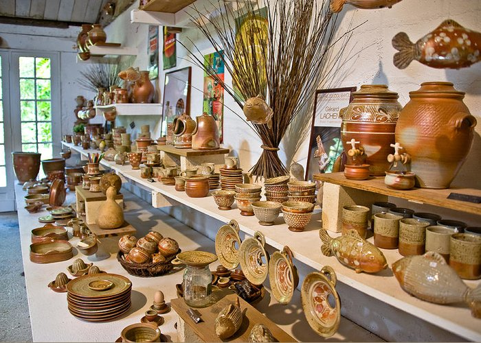 Europe Greeting Card featuring the photograph Pottery In La Borne by Oleg Koryagin