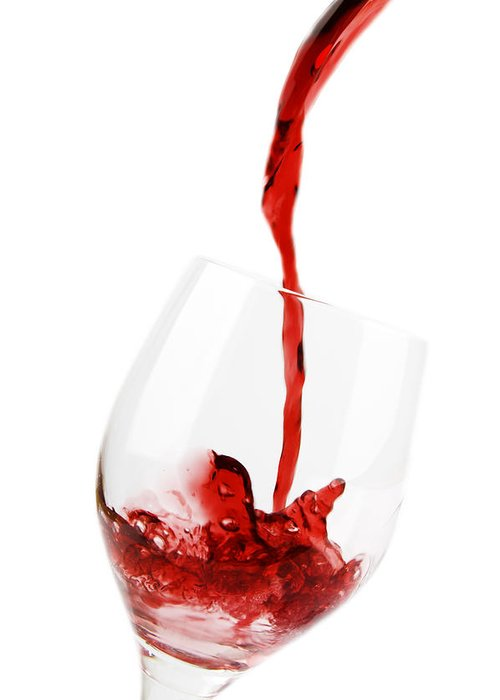 Wine Greeting Card featuring the photograph Pouring Red Wine by Chevy Fleet