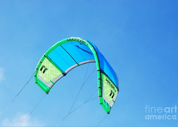 Kite Greeting Card featuring the photograph Power Kite by DejaVu Designs