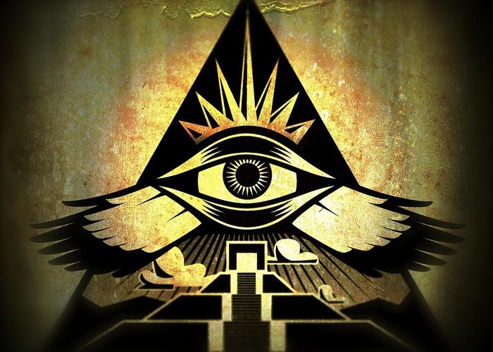 Third Eye Greeting Card featuring the digital art Power Pyramid by Milton Thompson
