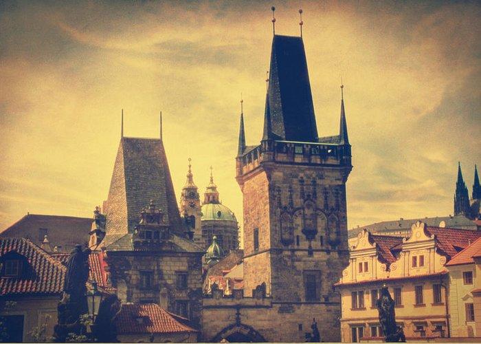 Prague Greeting Card featuring the photograph Praha by Taylan Soyturk