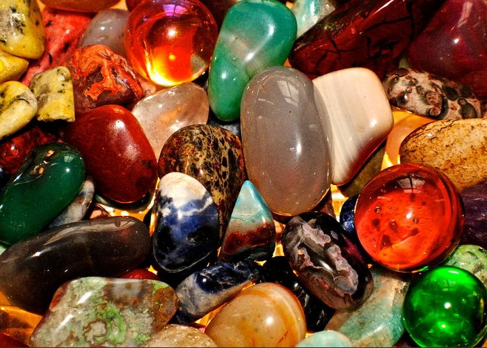 Stones Greeting Card featuring the photograph Precious Stones by Frozen in Time Fine Art Photography