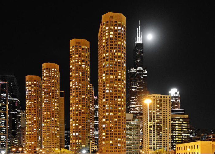 Chicago Greeting Card featuring the photograph Presidential Towers Chicago by Christine Till