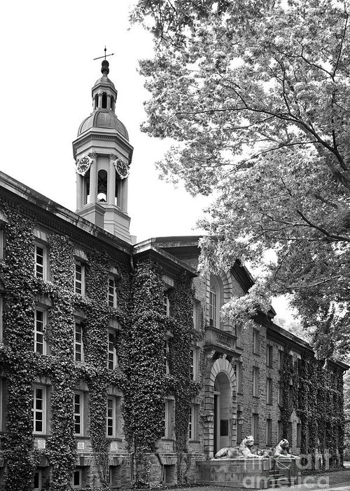 Ivy League Greeting Card featuring the photograph Princeton University Nassau Hall by University Icons