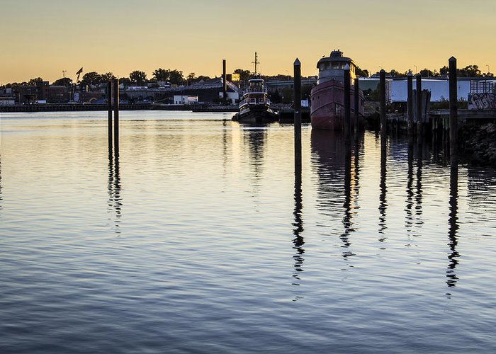 Andrew Pacheco Greeting Card featuring the photograph Providence Waterfront by Andrew Pacheco
