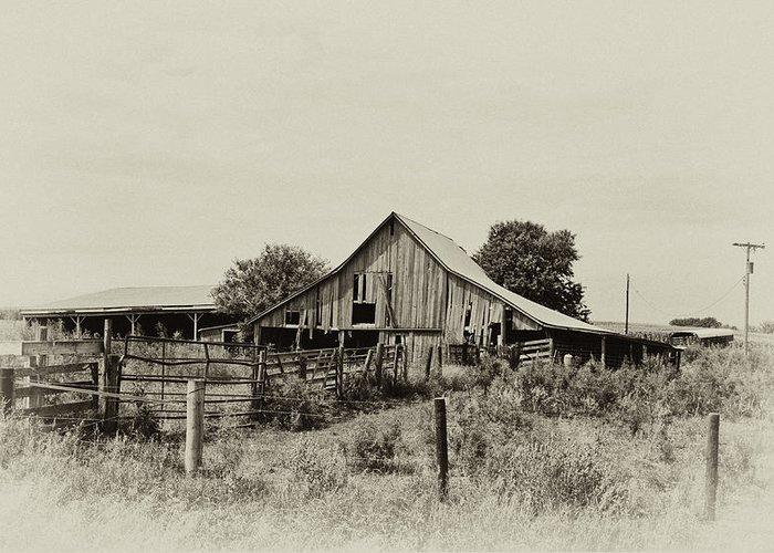 Barn Greeting Card featuring the photograph Puckerbrush Rd Barn by Wilma Birdwell