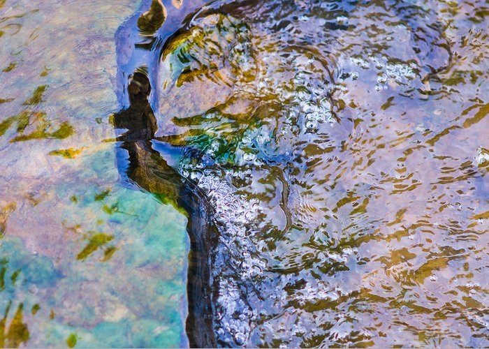 Abstract Greeting Card featuring the photograph Purl Of A Brook 3 - Featured 3 by Alexander Senin