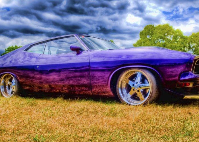 Ford Falcon Coupe Greeting Card featuring the photograph Purple Falcon Coupe by Phil 'motography' Clark