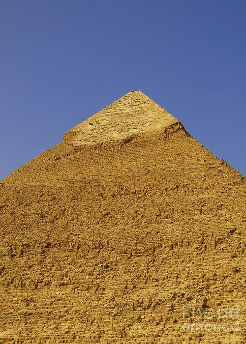 Pyramids Greeting Card featuring the photograph Pyramids Of Giza 06 by Antony McAulay