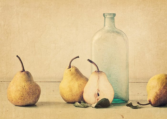 Pear Greeting Card featuring the photograph Quartet by Amy Weiss