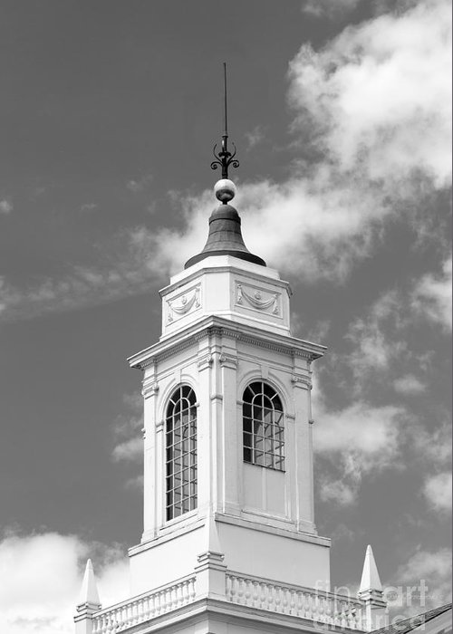 Cambridge Greeting Card featuring the photograph Radcliffe College Cupola by University Icons