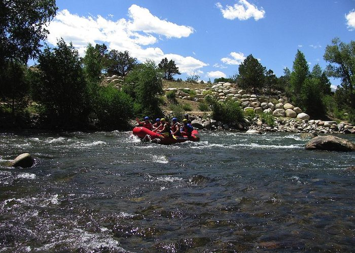 Transportation Greeting Card featuring the photograph Rafting The River by Steven Parker