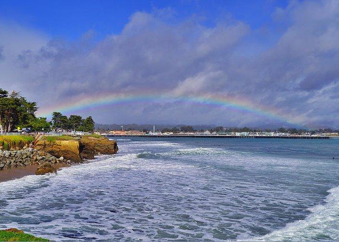 Santa Cruz Greeting Card featuring the photograph Rainbow Over Santa Cruz by Randy Straka