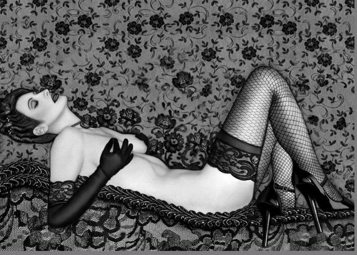 Boudoir Greeting Card featuring the photograph Ravishing Romance - Self Portrait by Jaeda DeWalt