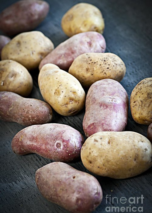 Potatoes Greeting Card featuring the photograph Raw Potatoes by Elena Elisseeva