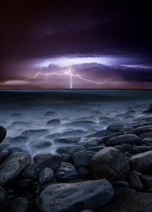 Landscape Greeting Card featuring the photograph Raw Power by Jorge Maia