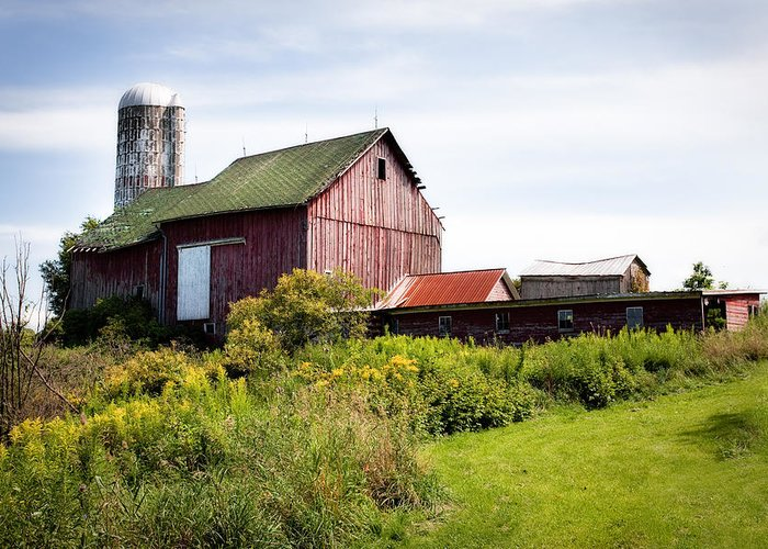 Red Barn Greeting Card featuring the photograph Red Barn In Groton by Gary Heller
