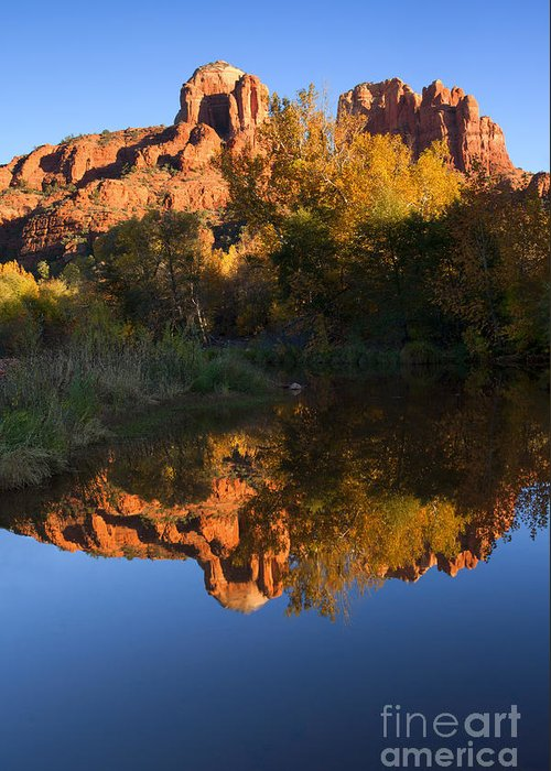 Sedona Greeting Card featuring the photograph Red Rock Reflections by Mike Dawson