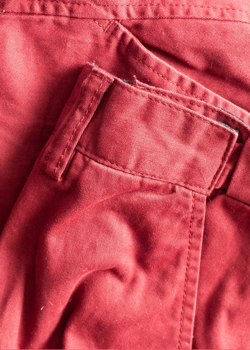 Apparel Greeting Card featuring the photograph Red Trousers by Tom Gowanlock