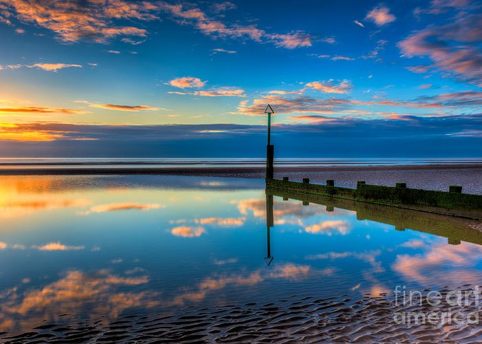 Sunset Greeting Card featuring the photograph Reflections by Adrian Evans