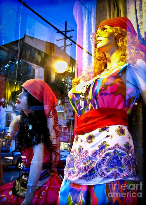 Mannequins Greeting Card featuring the photograph Reflections In The Life Of A Mannequin by Colleen Kammerer