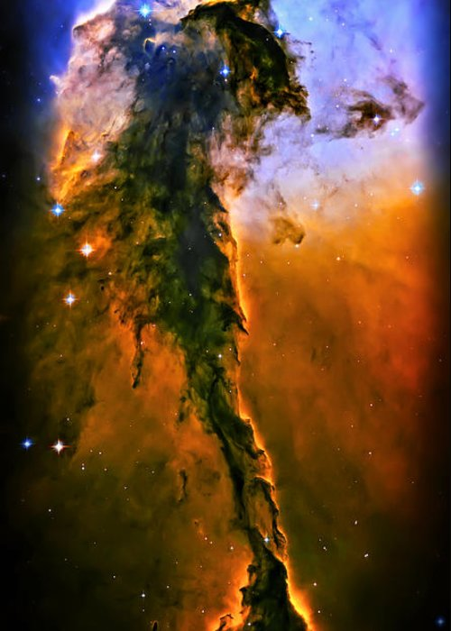 Universe Greeting Card featuring the photograph Release - Eagle Nebula 3 by The Vault - Jennifer Rondinelli Reilly