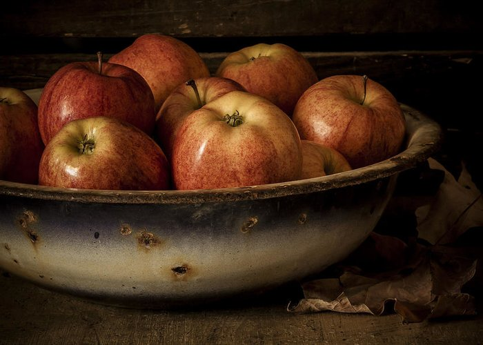 Apple Greeting Card featuring the photograph Remembering Autumn by Amy Weiss