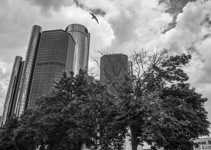 Detroit Greeting Card featuring the photograph Renaissance Center In Detroit by John McGraw
