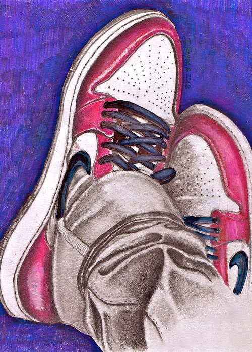 Air Greeting Card featuring the drawing Retro 1.2 by Dallas Roquemore