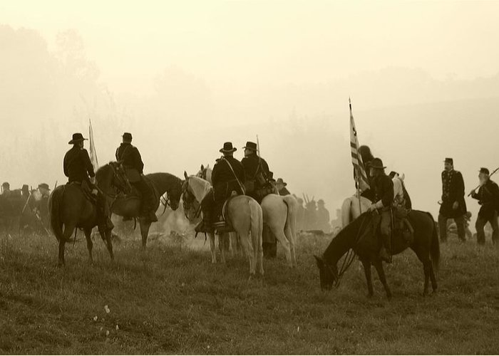 American Greeting Card featuring the photograph Reviewing The Troops I - Perryville Ky by Thia Stover