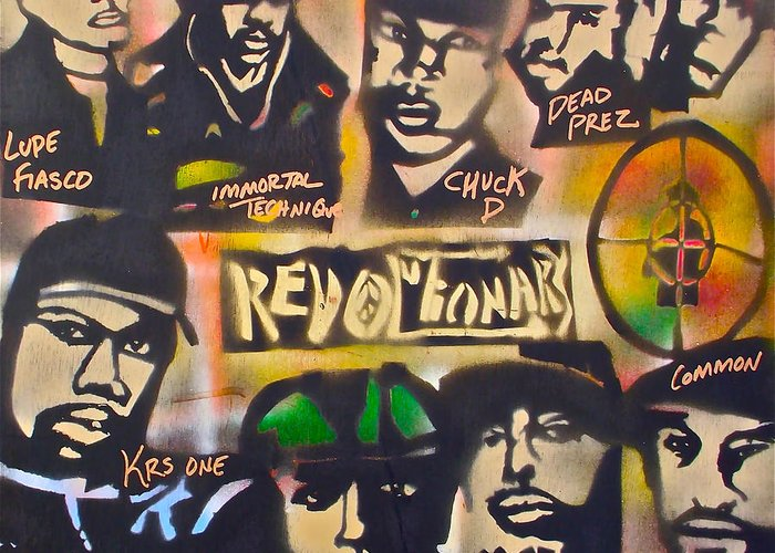 Hip Hop Greeting Card featuring the painting Revolutionary Hip Hop by Tony B Conscious