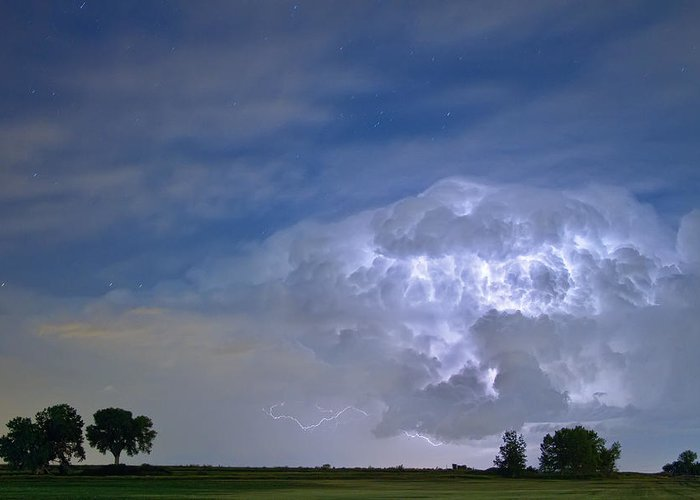 Lightning Greeting Card featuring the photograph Riders On The Storm by James BO Insogna