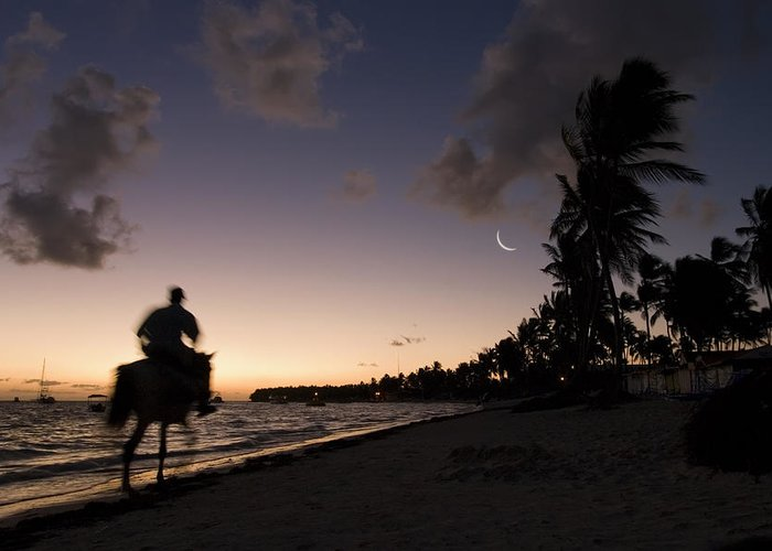 3scape Photos Greeting Card featuring the photograph Riding On The Beach by Adam Romanowicz