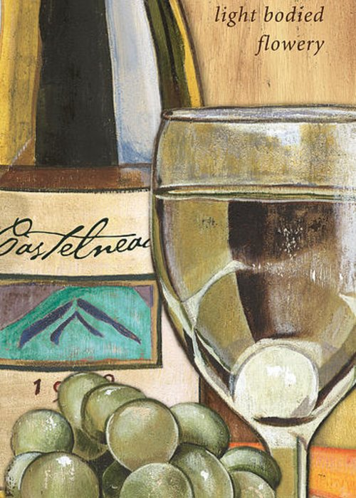 Riesling Greeting Card featuring the painting Riesling by Debbie DeWitt