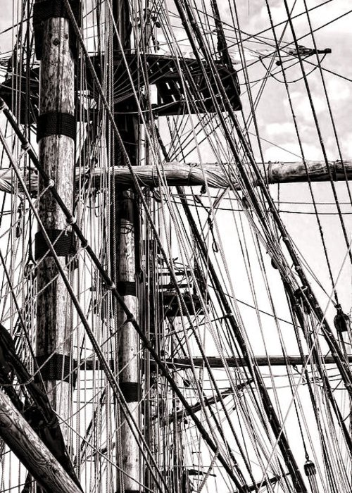Sailing Greeting Card featuring the photograph Rigging by Olivier Le Queinec