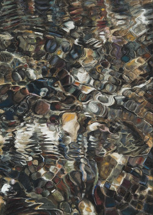 Birdseye Art Studio Greeting Card featuring the painting Ripples by Nick Payne