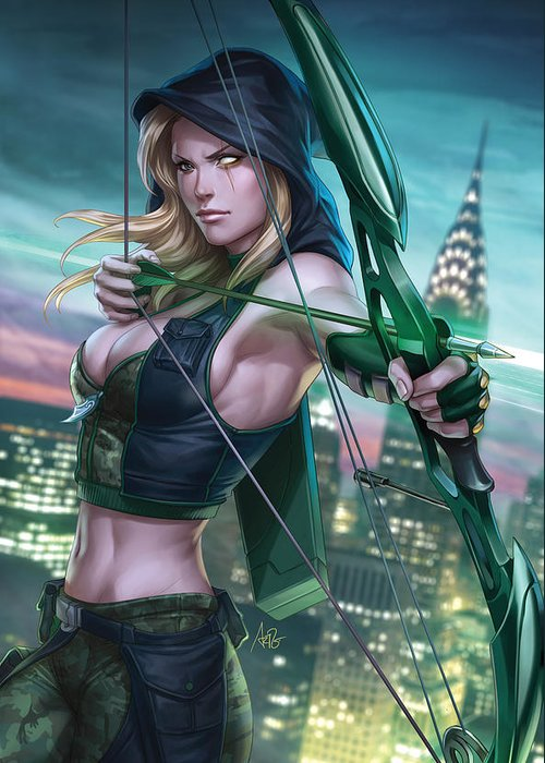 Grimm Fairy Tales Greeting Card featuring the drawing Robyn Hood Wanted 01a by Zenescope Entertainment