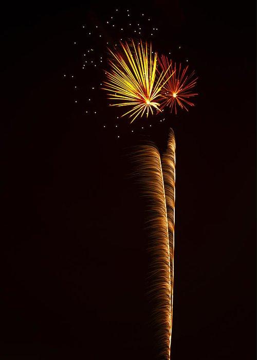 July 4th Greeting Card featuring the photograph Rockets Skyward by Saija Lehtonen
