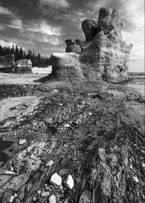 Landscape Greeting Card featuring the photograph Rocks by Arkady Kunysz