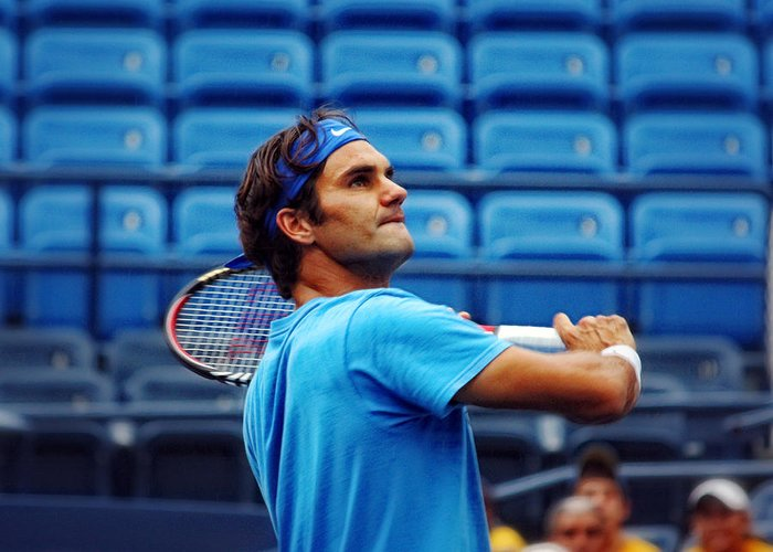 Roger Federer Greeting Card featuring the photograph Roger Federer by Nishanth Gopinathan
