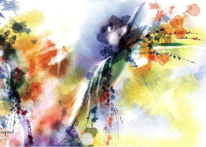 Digital Art Greeting Card featuring the digital art Romance by Francoise Dugourd-Caput
