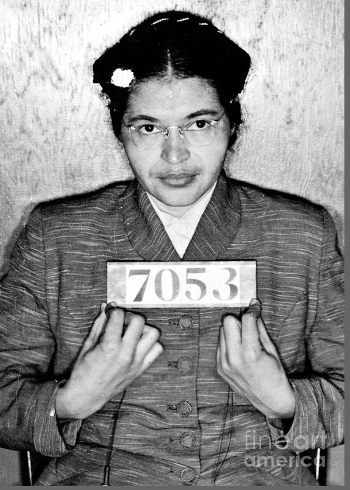 Rosa Greeting Card featuring the photograph Rosa Parks by Unknown