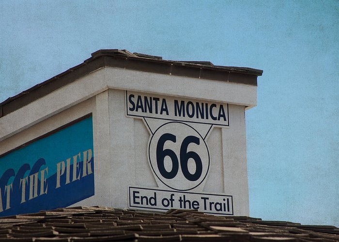 Route 66 Greeting Card featuring the photograph Route 66 - End Of The Trail by Kim Hojnacki
